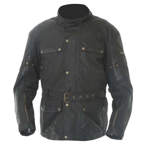 Frank Thomas Glasgow Mens Black Textile Motorcycle Jacket Front