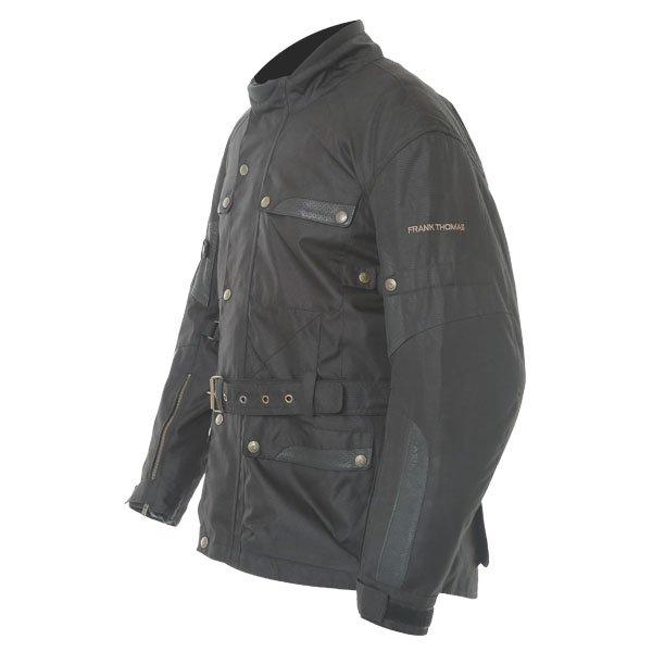Frank Thomas Glasgow Mens Black Textile Motorcycle Jacket Side