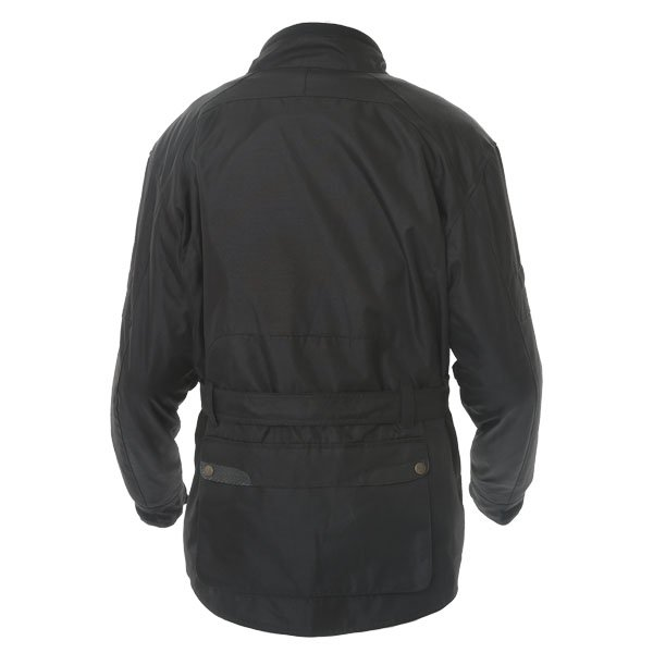 Frank Thomas Glasgow Mens Black Textile Motorcycle Jacket Back