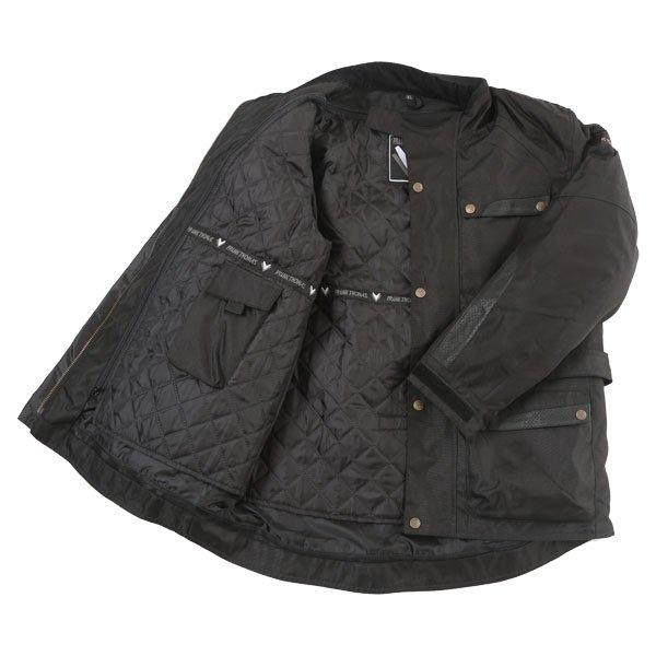 Frank Thomas Glasgow Mens Black Textile Motorcycle Jacket Inside