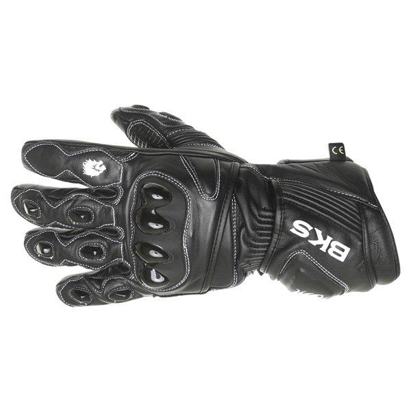BKS 03 Cat 2 Black Motorcycle Gloves Back