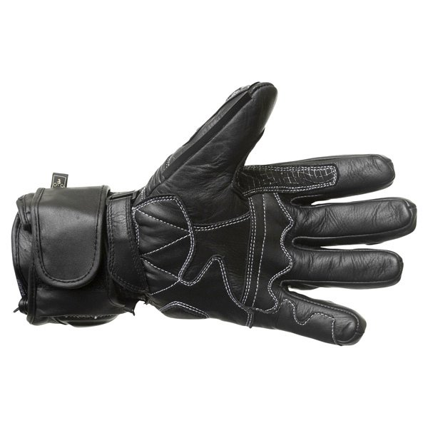 BKS 03 Cat 2 Black Motorcycle Gloves Palm