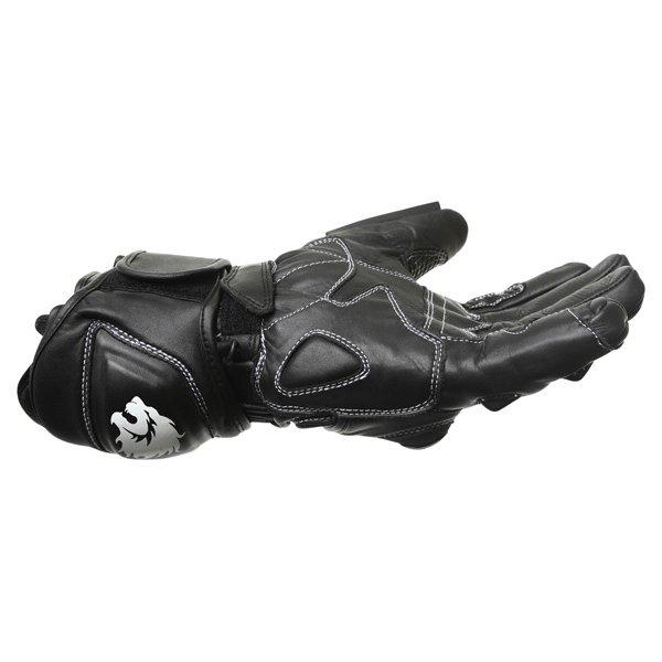 BKS 03 Cat 2 Black Motorcycle Gloves Little finger side