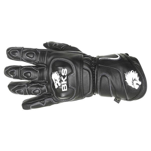 BKS 26 Cat 2 Black Motorcycle Gloves Back