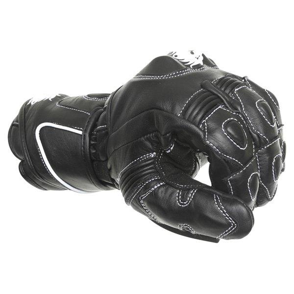 BKS 26 Cat 2 Black Motorcycle Gloves Knuckle