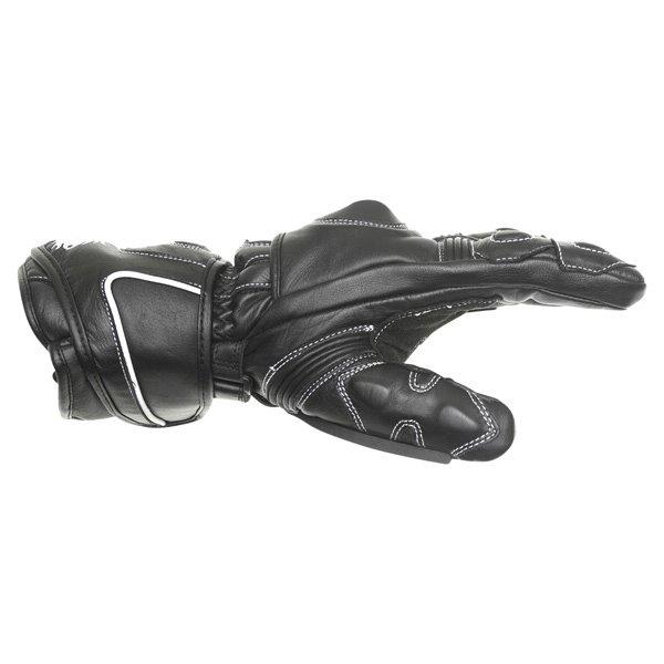 BKS 26 Cat 2 Black Motorcycle Gloves Thumb side