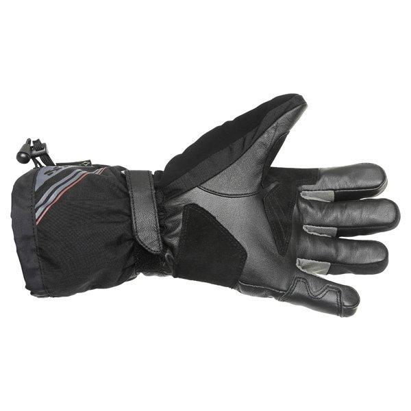 IXS Arctic Blaze GoreTex Black Waterproof Motorcycle Gloves Palm