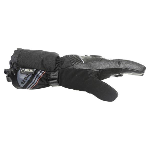 IXS Arctic Blaze GoreTex Black Waterproof Motorcycle Gloves Thumb side