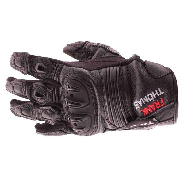 Frank Thomas Monaco Black Motorcycle Gloves Back