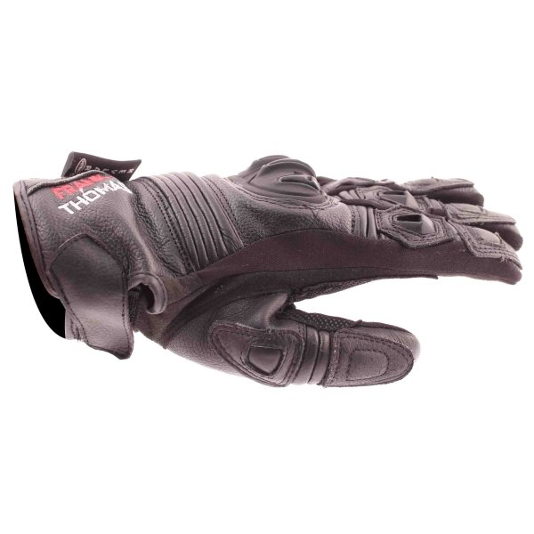 Frank Thomas Monaco Black Motorcycle Gloves Thumb side