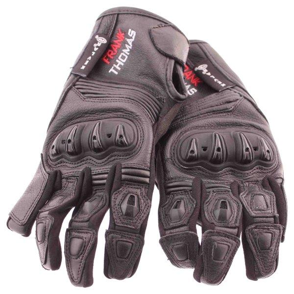 Frank Thomas Monaco Black Motorcycle Gloves