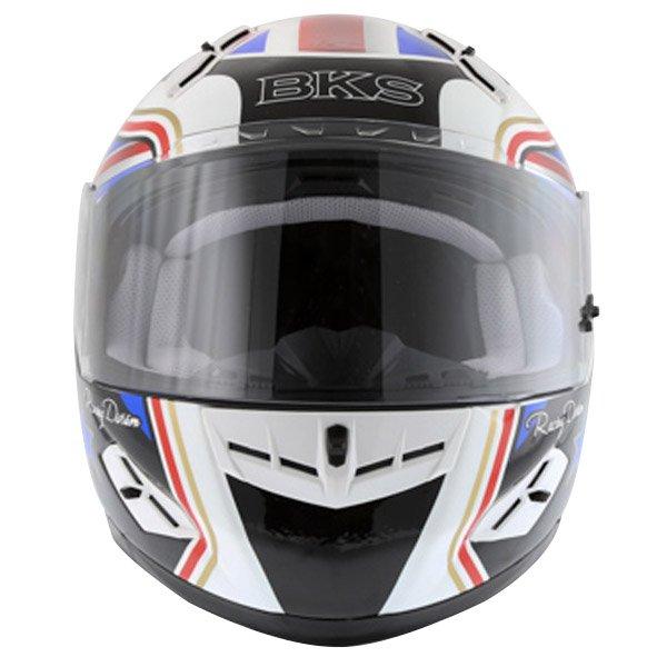 BKS Union Flag Full Face Motorcycle Helmet Front