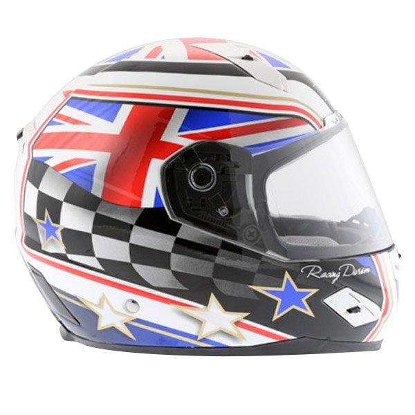 BKS Union Flag Full Face Motorcycle Helmet Right Side