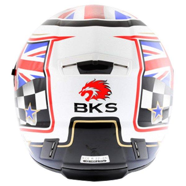 BKS Union Flag Full Face Motorcycle Helmet Back