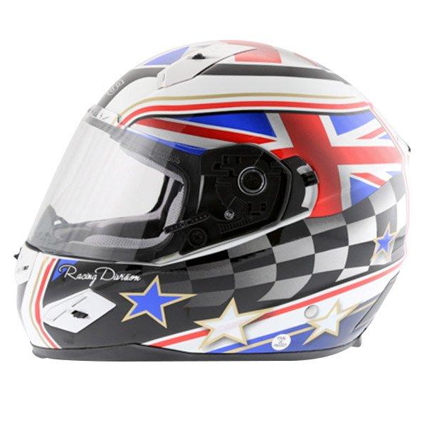 BKS Union Flag Full Face Motorcycle Helmet Left Side