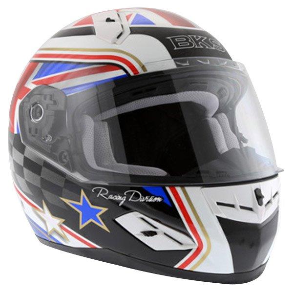 BKS Union Flag Full Face Motorcycle Helmet Front Left
