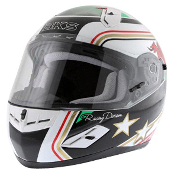 BKS Wales Flag Full Face Motorcycle Helmet Front Left