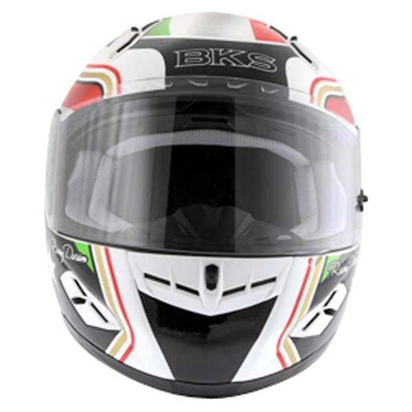 BKS Italy Flag Full Face Motorcycle Helmet Front