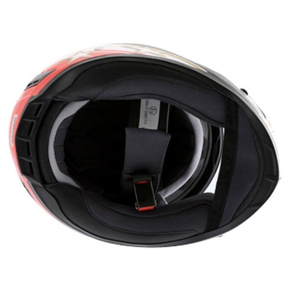BKS Italy Flag Full Face Motorcycle Helmet Inside