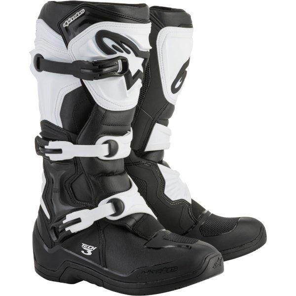 Alpinestars Tech 3 Black White MX Boots