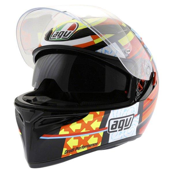 AGV K3 SV Elements Full Face Motorcycle Helmet Open With Sun Visor