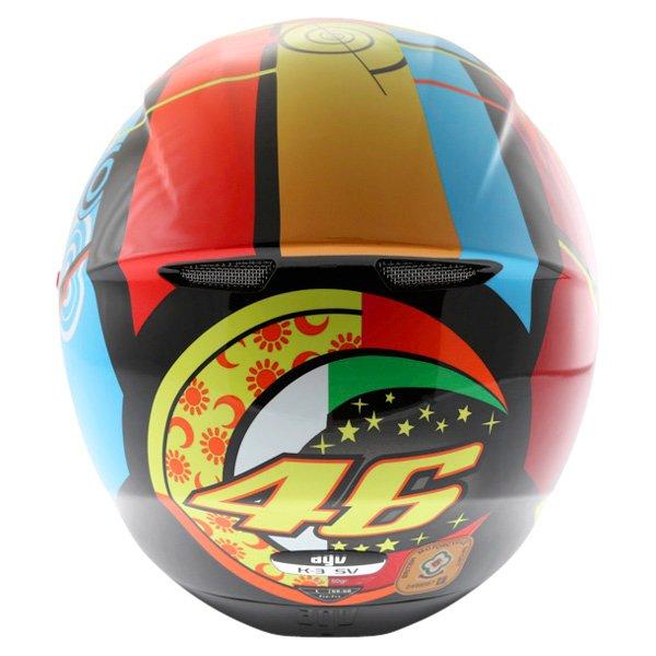 AGV K3 SV Elements Full Face Motorcycle Helmet Back