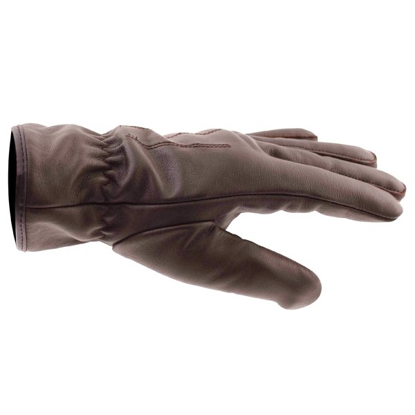 Frank Thomas Con-Dress Brown Motorcycle Gloves Thumb side