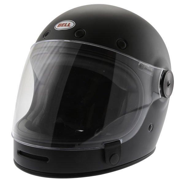 Bell Bullit Matt Black Full Face Motorcycle Helmet Front Left