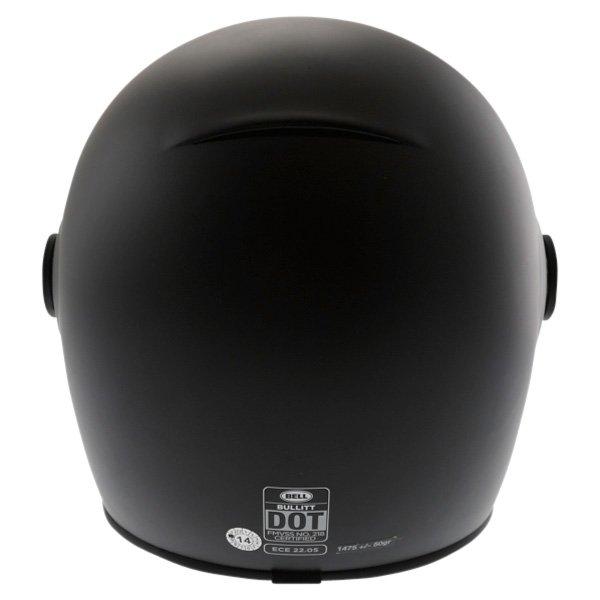 Bell Bullit Matt Black Full Face Motorcycle Helmet Back