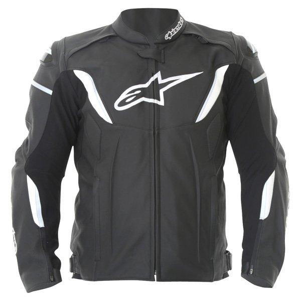 Alpinestars Gp R Black White Leather Motorcycle Jacket Front