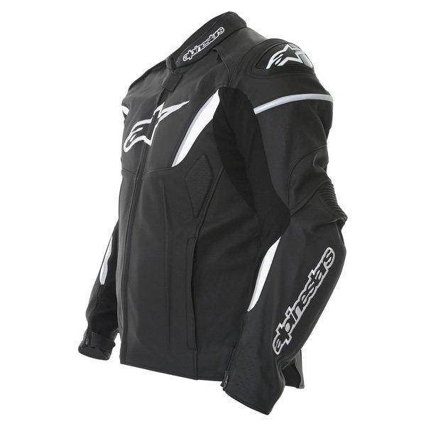 Alpinestars Gp R Black White Leather Motorcycle Jacket Side