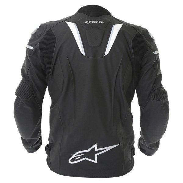 Alpinestars Gp R Black White Leather Motorcycle Jacket Back
