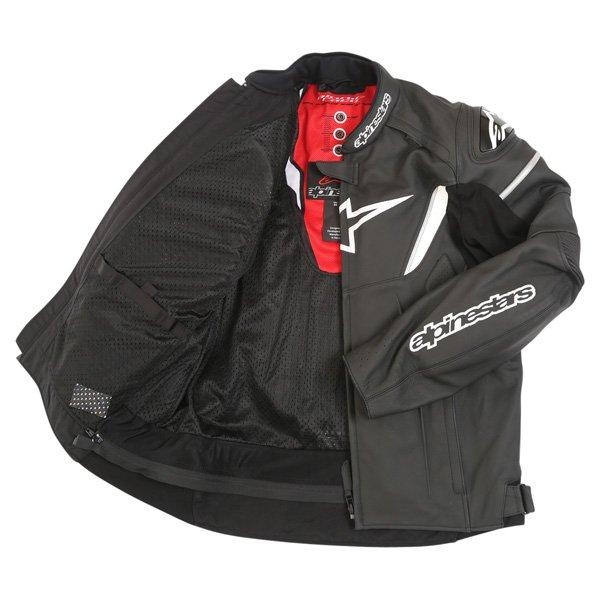 Alpinestars Gp R Black White Leather Motorcycle Jacket Inside