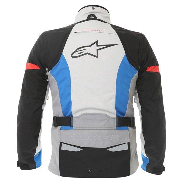 Alpinestars Bogota Drystar Mens Grey Blue Red Textile Motorcycle Jacket Back