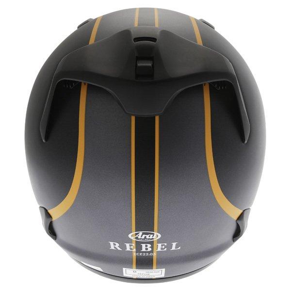 Arai Rebel Herritage Grey Full Face Motorcycle Helmet Back