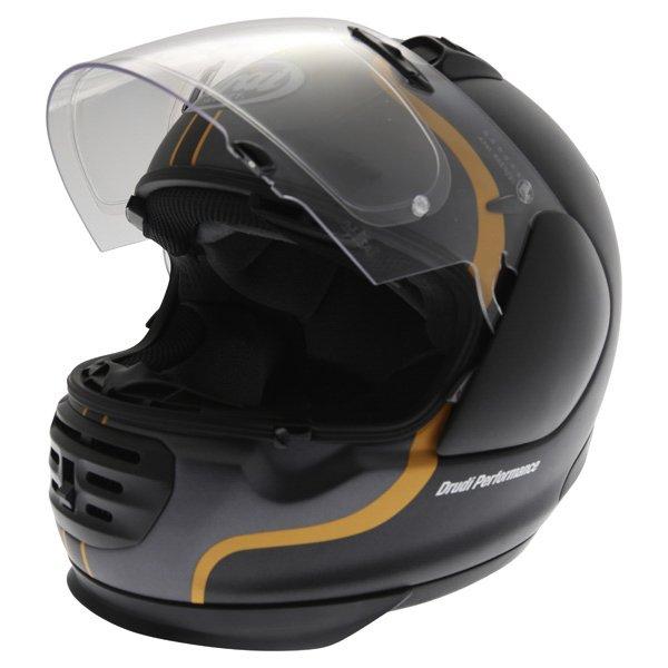 Arai Rebel Herritage Grey Full Face Motorcycle Helmet Visor Open