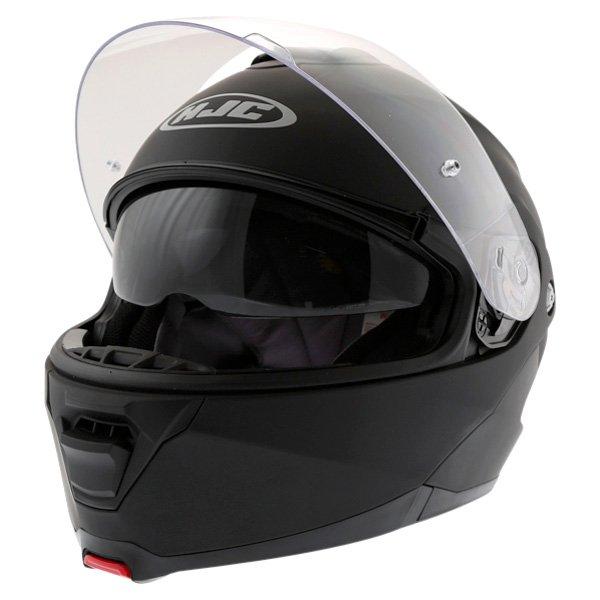 HJC IS-Max 2 Matt Black Flip Front Motorcycle Helmet Open With Sun Visor