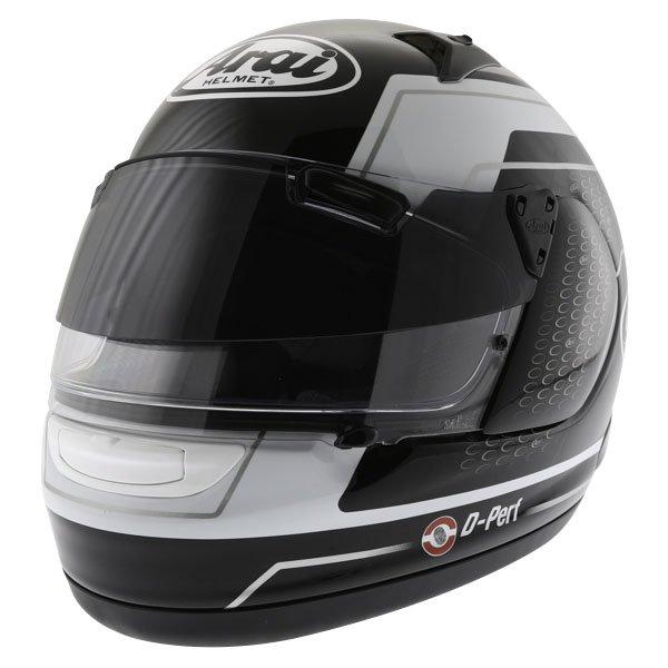 Arai Quantum ST Pro Team Black White Full Face Motorcycle Helmet Front Left
