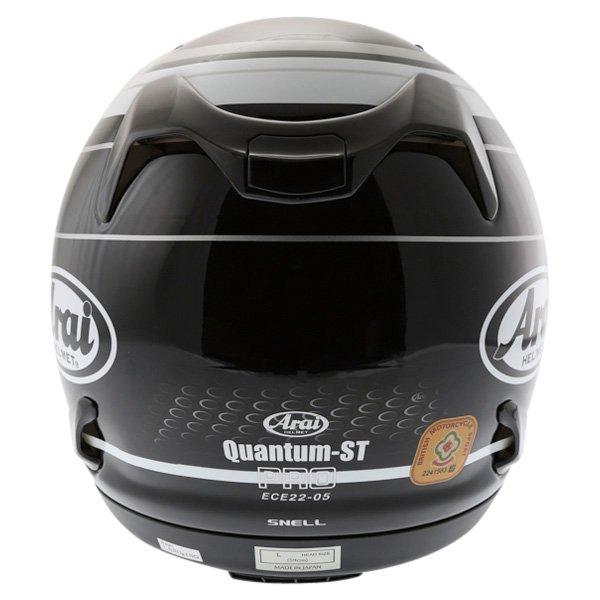 Arai Quantum ST Pro Team Black White Full Face Motorcycle Helmet Back