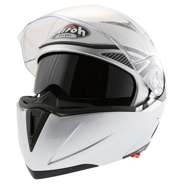 Airoh Cezannee XR Color Silver Full Face Motorcycle Helmet Open With Sun Visor