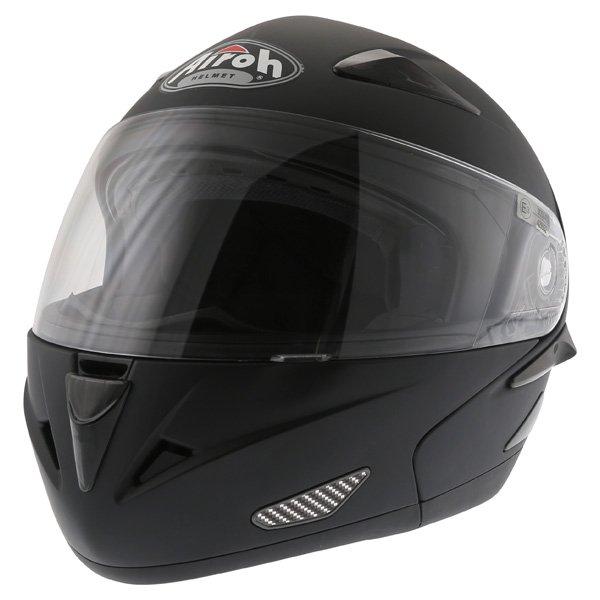 Airoh SV55-S Matt Black Flip Front Motorcycle Helmet Front Left
