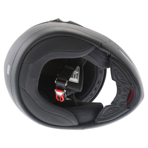 Airoh SV55-S Matt Black Flip Front Motorcycle Helmet Inside