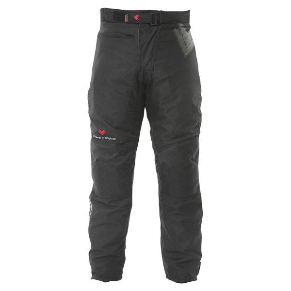 Frank Thomas Dusk Mens Black Textile Motorcycle Trousers Front