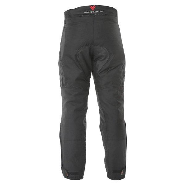 Frank Thomas Dusk Mens Black Textile Motorcycle Trousers Rear