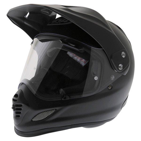 Arai Tour-X 4 Frost Black Adventure Motorcycle Helmet Front Left