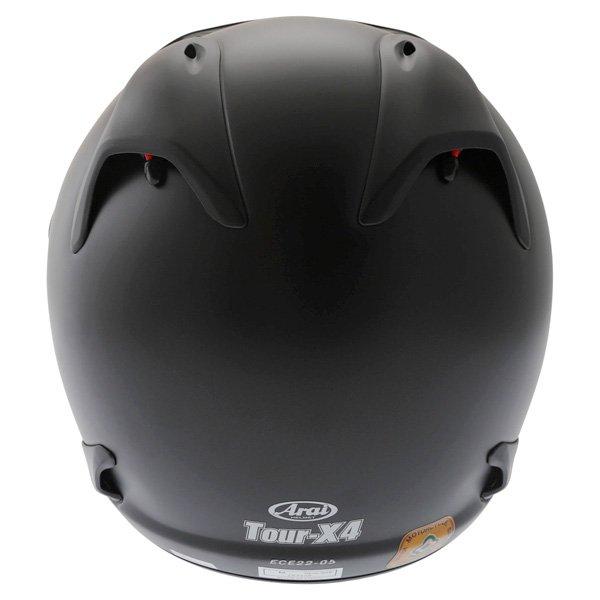 Arai Tour-X 4 Frost Black Adventure Motorcycle Helmet Back