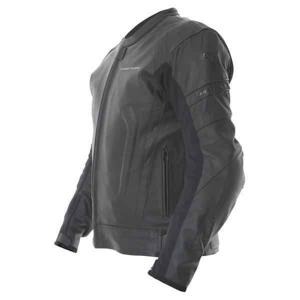 Frank Thomas Dynamic Black Leather Motorcycle Jacket Side