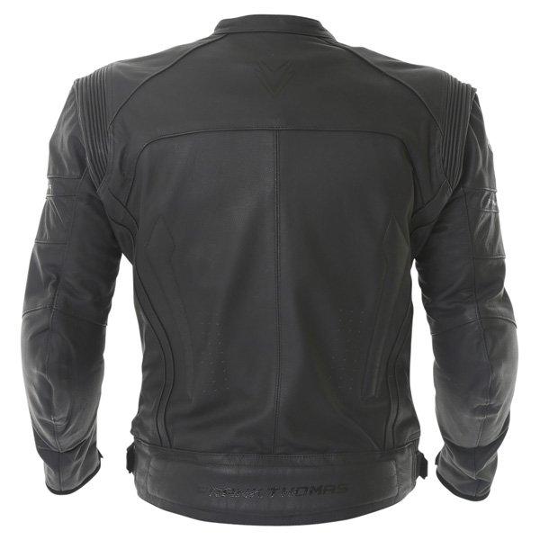 Frank Thomas Dynamic Black Leather Motorcycle Jacket Back