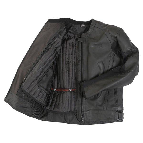 Frank Thomas Dynamic Black Leather Motorcycle Jacket Inside
