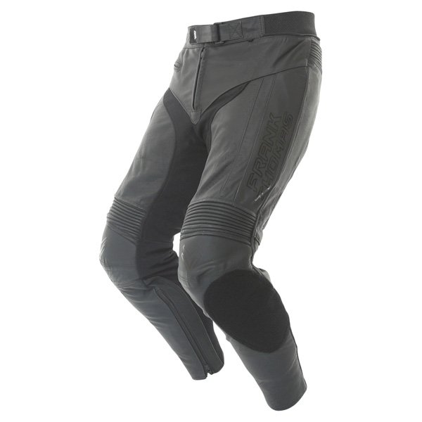 Frank Thomas Dynamic Black Leather Motorcycle Jeans Riding crouch